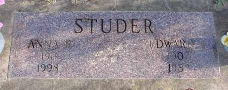 STUDER, EDWARD - Polk County, Oregon | EDWARD STUDER - Oregon Gravestone Photos