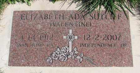 SUTLIFF, ELIZABETH ADA - Polk County, Oregon | ELIZABETH ADA SUTLIFF - Oregon Gravestone Photos