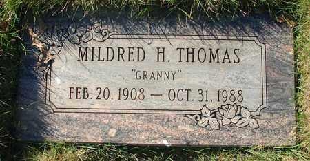 THOMAS, MILDRED H - Polk County, Oregon | MILDRED H THOMAS - Oregon Gravestone Photos