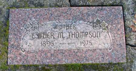 THOMPSON, ESTHER M - Polk County, Oregon | ESTHER M THOMPSON - Oregon Gravestone Photos
