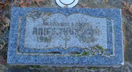 THURSTON, ANN E - Polk County, Oregon   ANN E THURSTON - Oregon Gravestone Photos