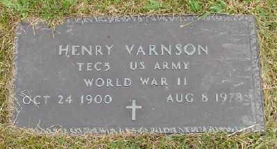 VARNSON, HENRY - Polk County, Oregon   HENRY VARNSON - Oregon Gravestone Photos