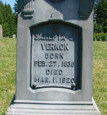 VERNON, SAREPTA JANE - Polk County, Oregon   SAREPTA JANE VERNON - Oregon Gravestone Photos