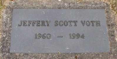 VOTH, JEFFERY SCOTT - Polk County, Oregon | JEFFERY SCOTT VOTH - Oregon Gravestone Photos