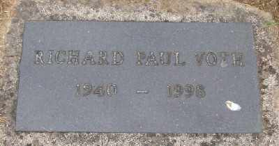 VOTH, RICHARD PAUL - Polk County, Oregon   RICHARD PAUL VOTH - Oregon Gravestone Photos