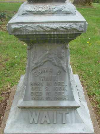 WAIT, EMMA S - Polk County, Oregon | EMMA S WAIT - Oregon Gravestone Photos