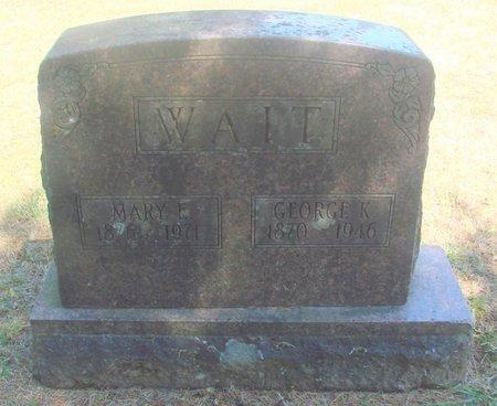 WAIT, MARY ETHEL - Polk County, Oregon | MARY ETHEL WAIT - Oregon Gravestone Photos