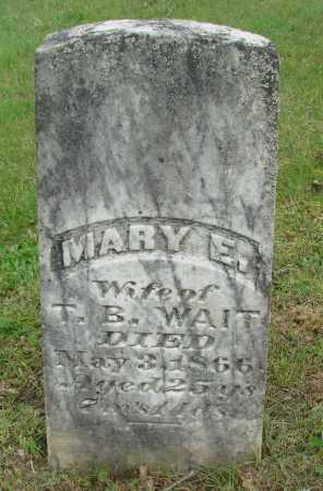 WAIT, MARY E - Polk County, Oregon | MARY E WAIT - Oregon Gravestone Photos
