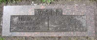 WALL, SARA - Polk County, Oregon   SARA WALL - Oregon Gravestone Photos