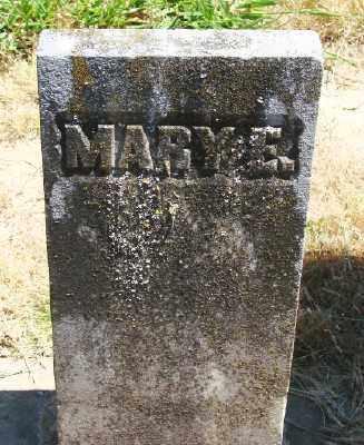 DAVIDSON WALLER, MARY E - Polk County, Oregon   MARY E DAVIDSON WALLER - Oregon Gravestone Photos