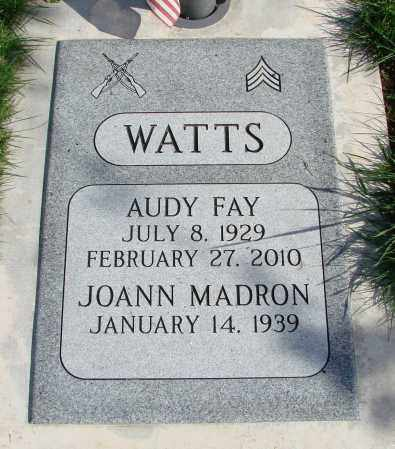 WATTS (SERV), AUDY FAY - Polk County, Oregon | AUDY FAY WATTS (SERV) - Oregon Gravestone Photos