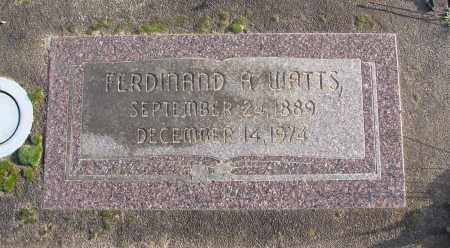 WATTS, FERDINAND A - Polk County, Oregon | FERDINAND A WATTS - Oregon Gravestone Photos
