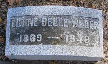 WEBER, LOTTIE BELLE - Polk County, Oregon | LOTTIE BELLE WEBER - Oregon Gravestone Photos
