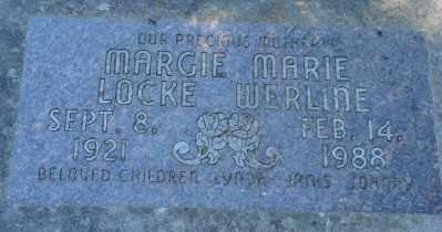 LOCKE WERLINE, MARGIE MARIE - Polk County, Oregon | MARGIE MARIE LOCKE WERLINE - Oregon Gravestone Photos