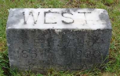 WEST, ELIJA A - Polk County, Oregon   ELIJA A WEST - Oregon Gravestone Photos