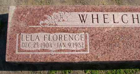 WHELCHEL, LELA FLORENCE - Polk County, Oregon   LELA FLORENCE WHELCHEL - Oregon Gravestone Photos