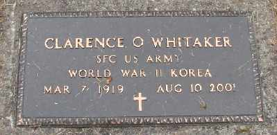 WHITAKER (WWII), CLARENCE ORVAL - Polk County, Oregon | CLARENCE ORVAL WHITAKER (WWII) - Oregon Gravestone Photos