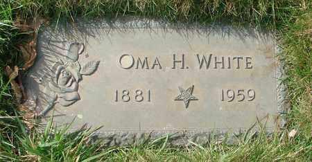 WHITE, OMA H - Polk County, Oregon | OMA H WHITE - Oregon Gravestone Photos