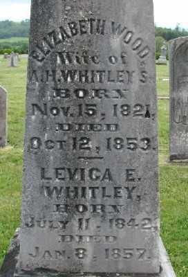WOODS WHITLEY, ELIZABETH - Polk County, Oregon   ELIZABETH WOODS WHITLEY - Oregon Gravestone Photos