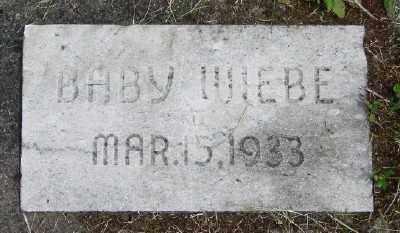 WIEBE, BABY - Polk County, Oregon | BABY WIEBE - Oregon Gravestone Photos