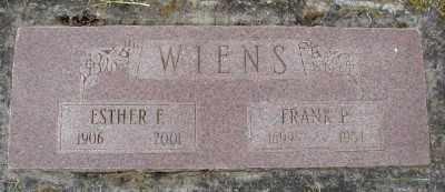 WIENS, ESTHER F - Polk County, Oregon   ESTHER F WIENS - Oregon Gravestone Photos