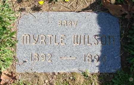 WILSON, MYRTLE - Polk County, Oregon   MYRTLE WILSON - Oregon Gravestone Photos