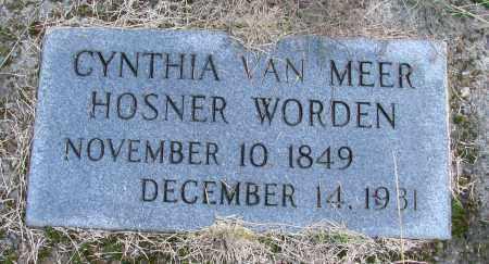 VAN MEER WORDEN, CYNTHIA - Polk County, Oregon | CYNTHIA VAN MEER WORDEN - Oregon Gravestone Photos