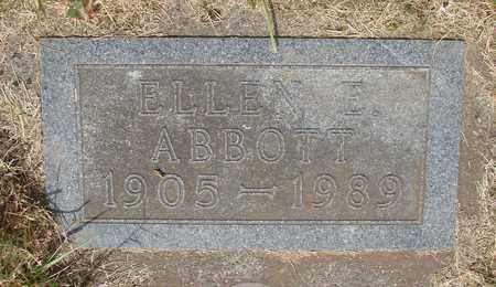 ABBOTT, ELLEN ELVERA - Tillamook County, Oregon   ELLEN ELVERA ABBOTT - Oregon Gravestone Photos