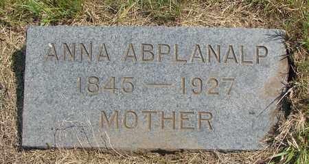ABPLANALP, ANNA - Tillamook County, Oregon | ANNA ABPLANALP - Oregon Gravestone Photos