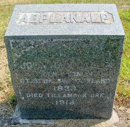 ABPLANALP, JOHN - Tillamook County, Oregon | JOHN ABPLANALP - Oregon Gravestone Photos