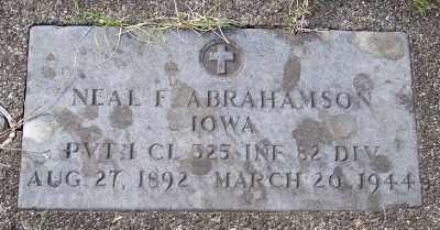 ABRAHAMSON (WWI), NEAL F. - Tillamook County, Oregon   NEAL F. ABRAHAMSON (WWI) - Oregon Gravestone Photos