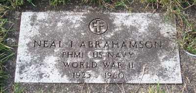 ABRAHAMSON (WWII), NEAL IRWIN - Tillamook County, Oregon | NEAL IRWIN ABRAHAMSON (WWII) - Oregon Gravestone Photos