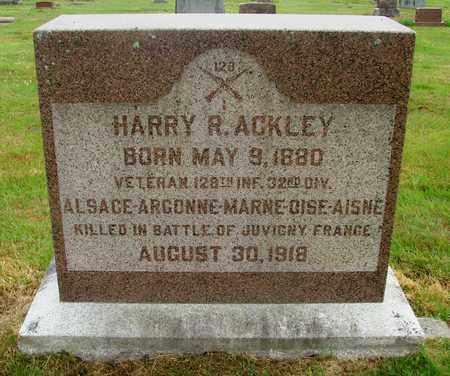 ACKLEY (WWI), HARRY R - Tillamook County, Oregon | HARRY R ACKLEY (WWI) - Oregon Gravestone Photos