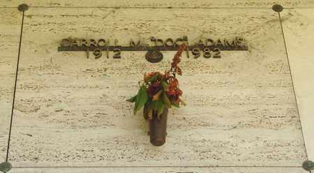 ADAMS, CARROLL M - Tillamook County, Oregon   CARROLL M ADAMS - Oregon Gravestone Photos