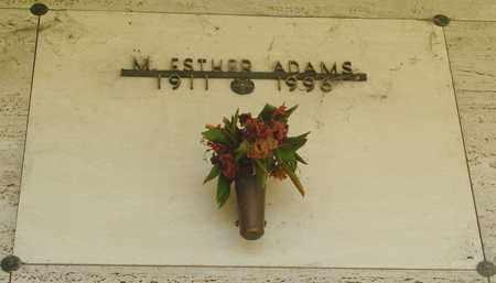 ADAMS, MARY ESTHER - Tillamook County, Oregon | MARY ESTHER ADAMS - Oregon Gravestone Photos