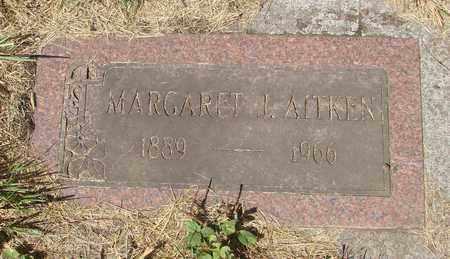 AITKEN, MARGARET J - Tillamook County, Oregon | MARGARET J AITKEN - Oregon Gravestone Photos