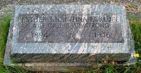 ARMSTRONG, ESTHER CHRISTINA - Tillamook County, Oregon   ESTHER CHRISTINA ARMSTRONG - Oregon Gravestone Photos