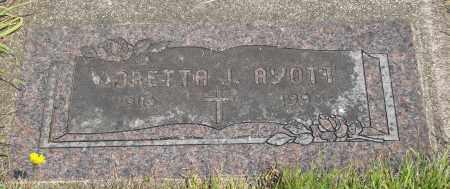AYOTT, LORETTA JANE - Tillamook County, Oregon | LORETTA JANE AYOTT - Oregon Gravestone Photos