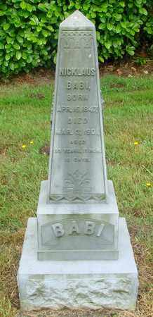 BABI, NICKLAUS - Tillamook County, Oregon | NICKLAUS BABI - Oregon Gravestone Photos