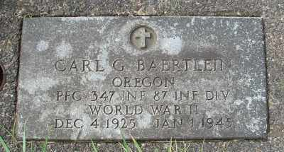 BAERTLEIN, CARL G - Tillamook County, Oregon | CARL G BAERTLEIN - Oregon Gravestone Photos
