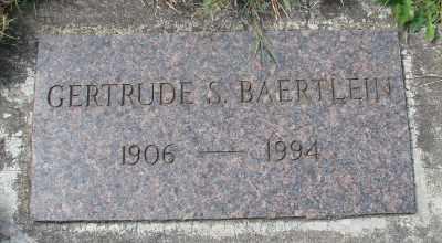 BAERTLEIN, GERTRUDE S - Tillamook County, Oregon   GERTRUDE S BAERTLEIN - Oregon Gravestone Photos
