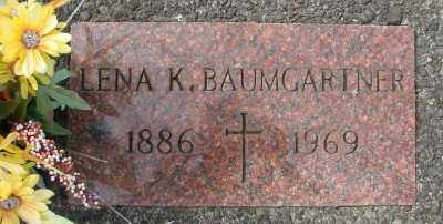 BAUMGARTNER, LENA K - Tillamook County, Oregon   LENA K BAUMGARTNER - Oregon Gravestone Photos