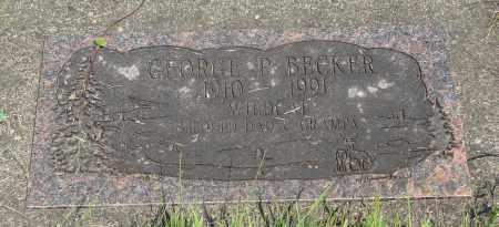 BECKER, GEORGE PAUL - Tillamook County, Oregon   GEORGE PAUL BECKER - Oregon Gravestone Photos