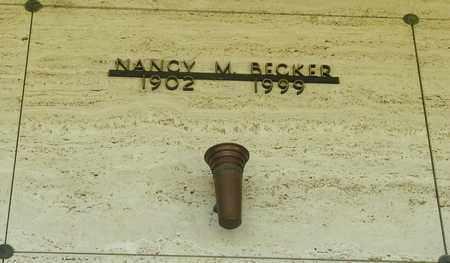 BECKER, NANCY M - Tillamook County, Oregon   NANCY M BECKER - Oregon Gravestone Photos