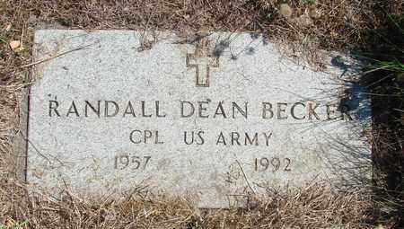 BECKER, RANDALL DEAN - Tillamook County, Oregon | RANDALL DEAN BECKER - Oregon Gravestone Photos