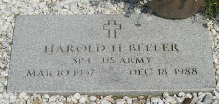 BEELER, HAROLD H - Tillamook County, Oregon | HAROLD H BEELER - Oregon Gravestone Photos