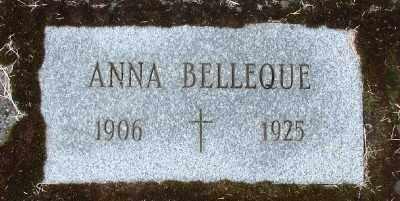 BELLEQUE, ANNA - Tillamook County, Oregon | ANNA BELLEQUE - Oregon Gravestone Photos