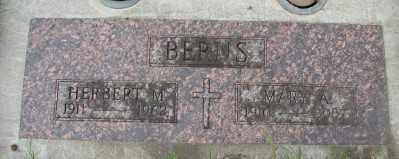 BERNS, MARY A - Tillamook County, Oregon | MARY A BERNS - Oregon Gravestone Photos