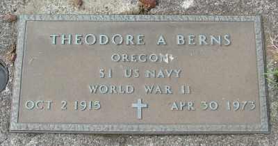 BERNS (WWII), THEODORE ANTHONY - Tillamook County, Oregon | THEODORE ANTHONY BERNS (WWII) - Oregon Gravestone Photos
