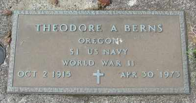 BERNS, THEODORE ANTHONY - Tillamook County, Oregon | THEODORE ANTHONY BERNS - Oregon Gravestone Photos